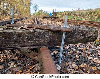 acrossing, 大引き, point., railway., 消失, 鉄道, ねじで締められる