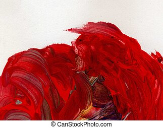 acryl, rood