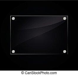 acryl sign on black background - Illustration of acrylic ...