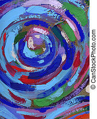 acryl, textuur, schilderij, abstract, achtergrond