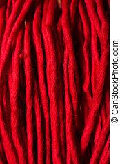acryl, weefsel, rood
