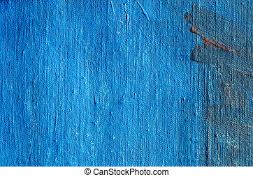acrylic blue painted canvas background