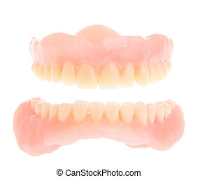Acrylic denture - full set of a acrylic denture isolated on ...