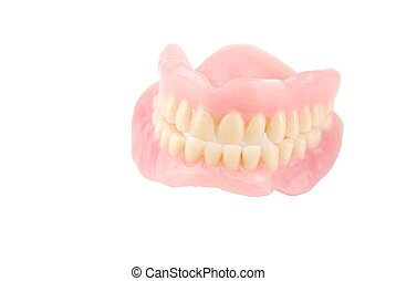 Acrylic denture - full set of acrylic denture isolated on...