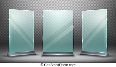 Acrylic display, glass plate with metal holder - Acrylic ...