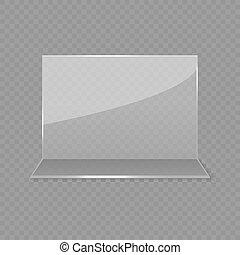 Acrylic glass table card display isolated