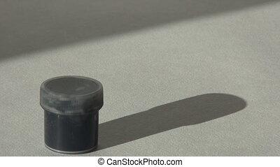 Acrylic gouache black paint. Homework, the artist works. hd...