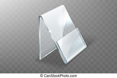 Acrylic holder, glass or plastic display stand for menu or ...
