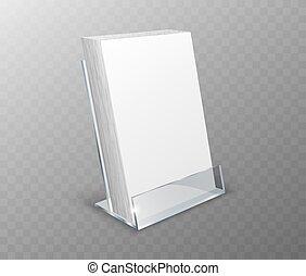 Acrylic holder, table display with blank cards - Acrylic ...
