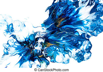 Acrylic paint pouring - Floral theme