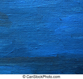 acrylic painted art linen canvas blue background