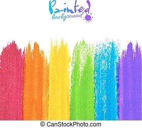 Acrylic painted stripes, vector background