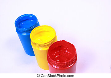 acrylic primary color colorful acrylic paints of primary - Primary Color Pictures