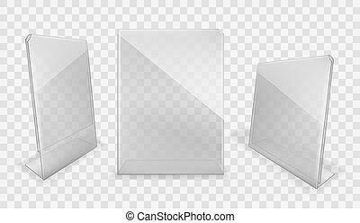 Acrylic table displays, plastic glass card holders - Acrylic...