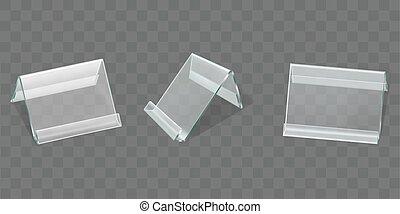 Acrylic table tent displays, plastic card holders - Acrylic ...