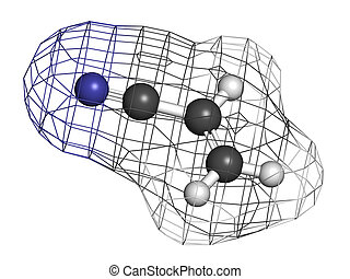 Acrylonitrile molecule, polyacrylonitrile (PAN) and ABS plastic