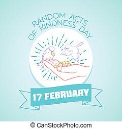 actúa, febrero, 17, amabilidad, aleatorio, día