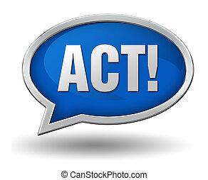 act concept 3d illustration