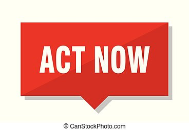 act now red tag