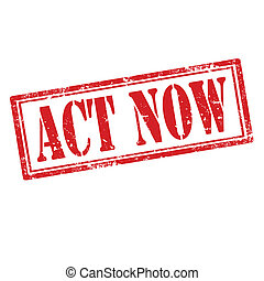Act Now-stamp