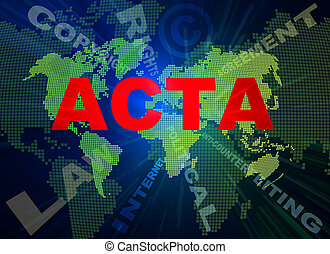 ACTA conception texts and world map