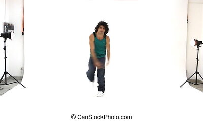 acti, breakdance, nastolatek, taniec