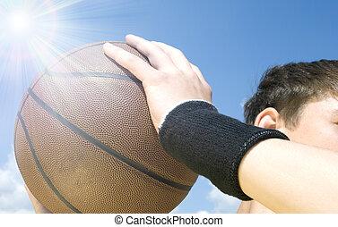 actie, basketbal