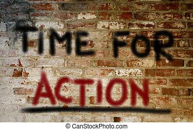 actie, concept, tijd