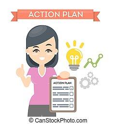 actie, plan., vrouw