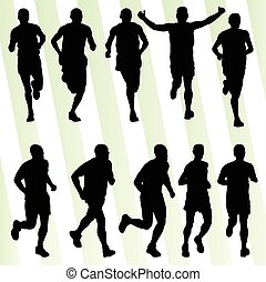 actief, mannen, loper, sportende, artletieksporten