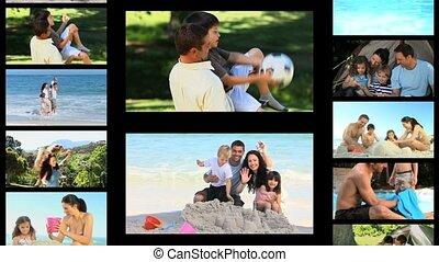 actief, montage, families