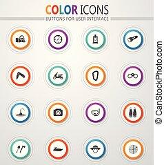actief, ontspanning, iconen