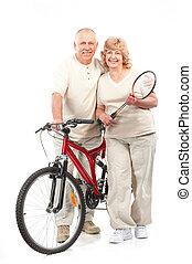 actief, paar, bejaarden