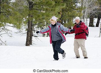 actief, paar, gepensioneerd