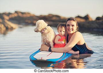 actief, thema, vakantie, gezin