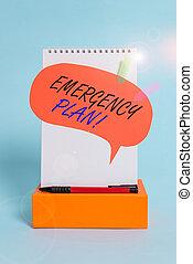 acties, evenementen, richtingwijzer, zakelijk, plan., doosje, bel, notepad, toespraak, balpen, achtergrond., pastel, potentieel, schrijvende , beschadigen, concept, koel, noodgeval, tekst, woord, mitigate, banieren, ontwikkelde