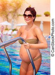 actif, femme, pregnant