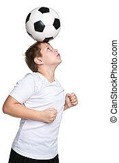 actif, garçon, boule football