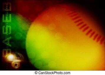 actif, rotation, base, balle