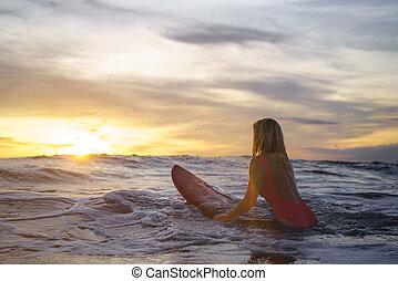 actif, surfeur