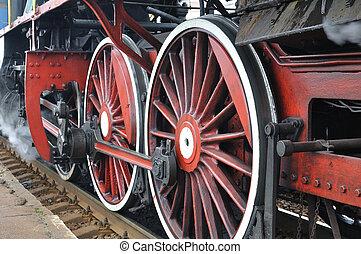 actif, vapeur, locomotive