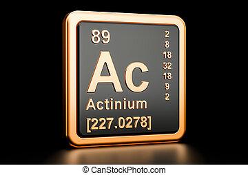 Actinium Ac chemical element. 3D rendering - Actinium Ac,...
