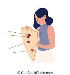 action éviter, bouclier, plat, mécanisme, dessin animé, ...