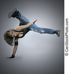 action, adolescent, breakdance, girl, danse
