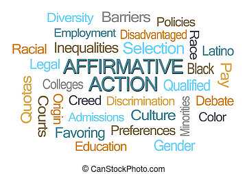 action affirmative, mot, nuage