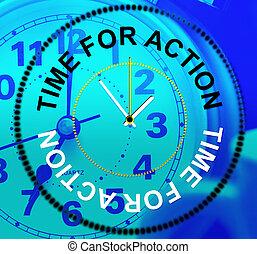action, agir, spectacles, il, temps