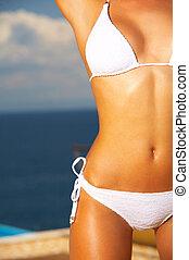 action, bikini