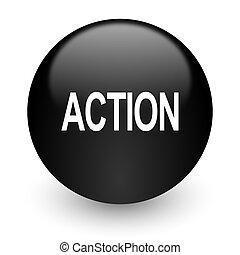 action black glossy internet icon