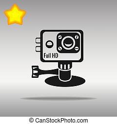 action camera black Icon button logo symbol