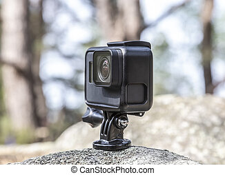 Action Camera in a Forest